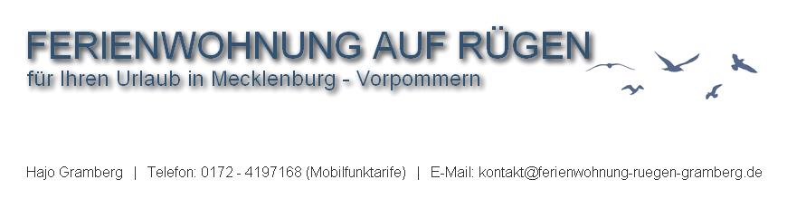 Hajo Gramberg | Vermietung Ferienwohnung auf Rügen | Urlaub auf Rügen in einer Ferienwohnung | Günstige Ferienwohnung in Altefähr buchen